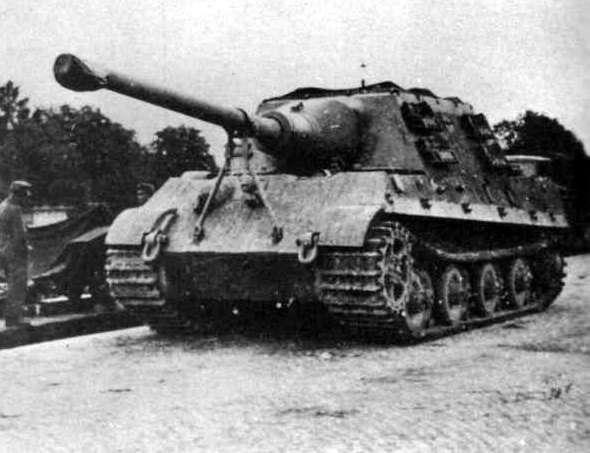"""""""Ягдтигр """" (нем.  Jagdtiger), полное официальное название Panzerjäger Tiger - германская самоходная артиллерийская..."""