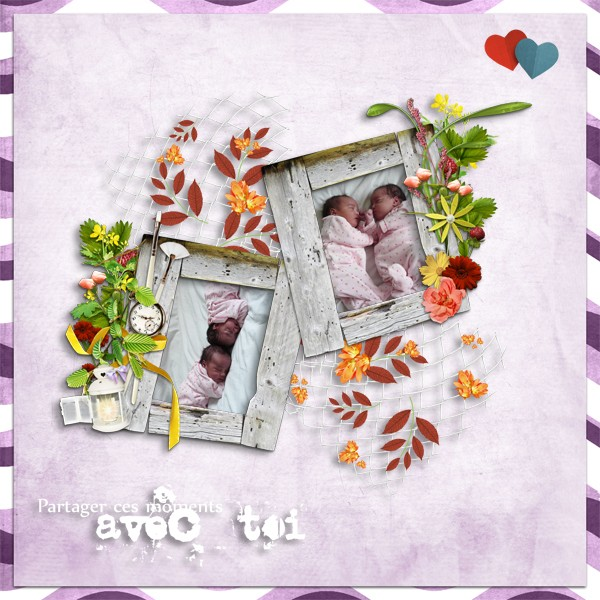 kit sweet flowers collab cajoline simplette page lady