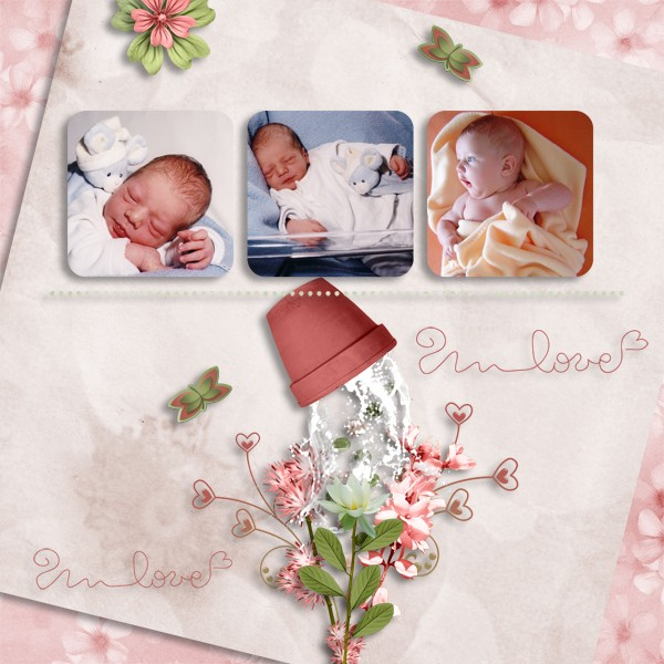 kit romantic spring simplette page lady