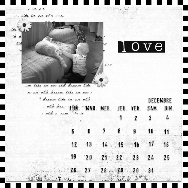 kit old dreams in black and white simplette page lady