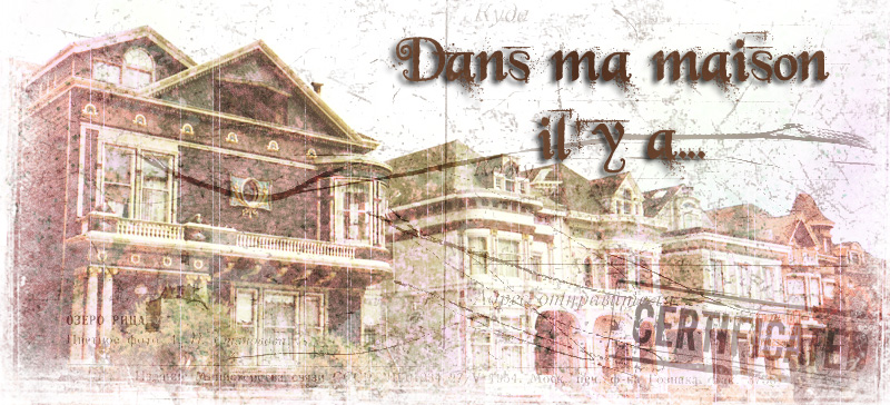 Dans ma maison il y a... Blog de challenges mixed media