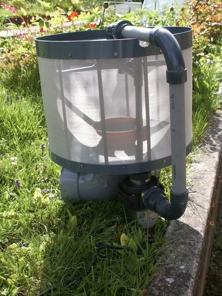Filtre a tambour vertical - Filtre bassin occasion ...