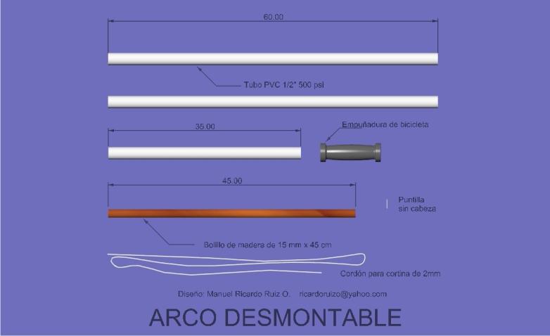 Como crear un arco desmontable barato, facil y eficaz..