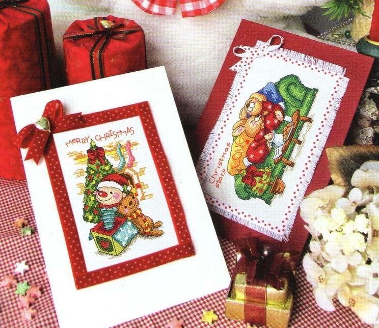 """Вышивка крестом/новогодняя вышивка. открытка. вышивка крестом. a href= """"http..."""