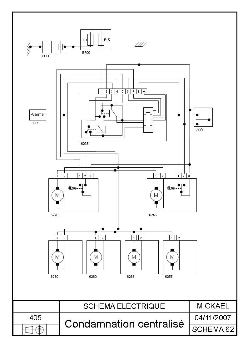 Schema electrique phare 307