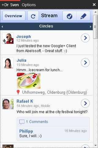 Conectarse a Google+ desde WIndows gratis