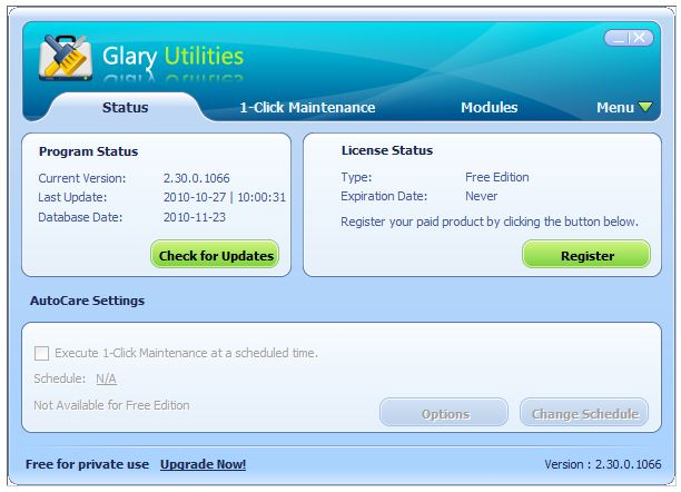 Glary Utilities Pro 2.51.0.1666 [Multilenguaje] - Kit completo para mantenimiento del PC