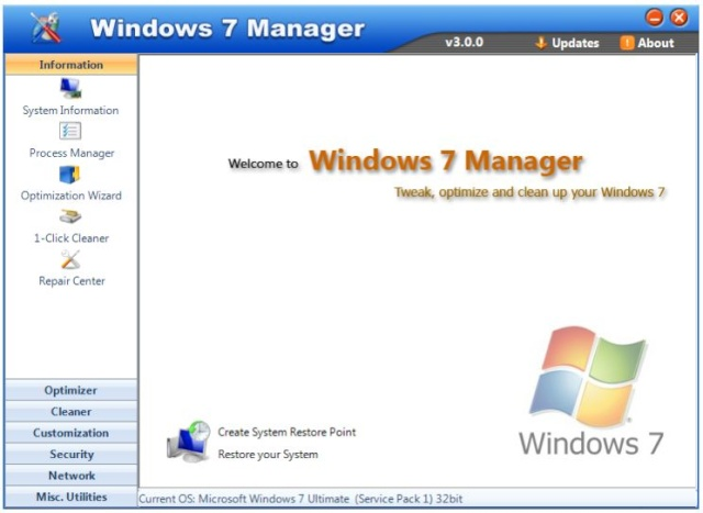 Windows 7 Manager 4.4.2 - Pon a punto tu Windows 7