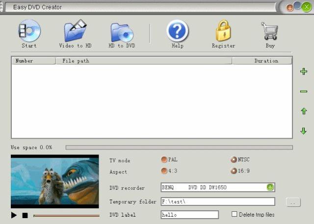 Easy DVD Creator 2.5.9 - Crea tus propios DVDs