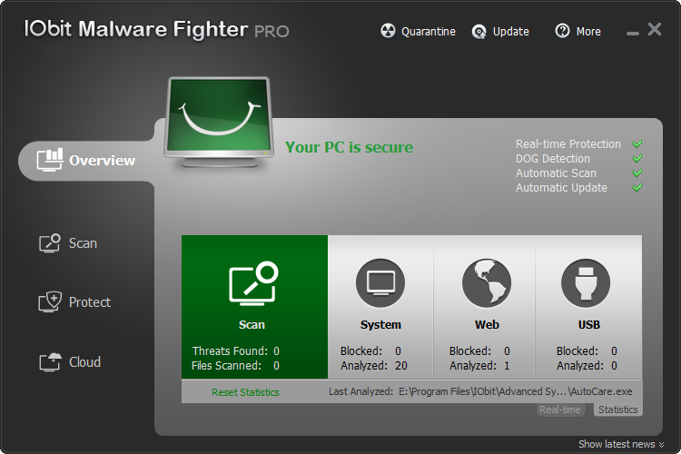 IObit Malware Fighter PRO 1.1.1.2 [Multilenguaje/Español]