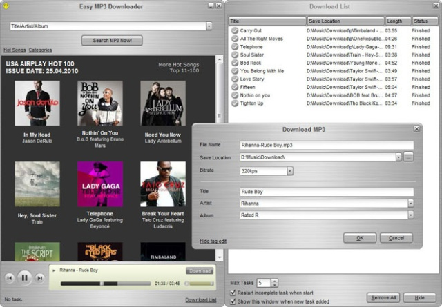 Easy MP3 Downloader 4.5.0.8 - Escucha y descarga música