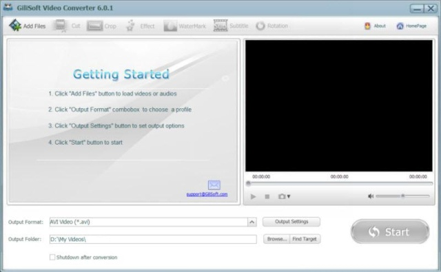 GiliSoft Video Converter 6.8.0 - Conversor de audio y vídeo