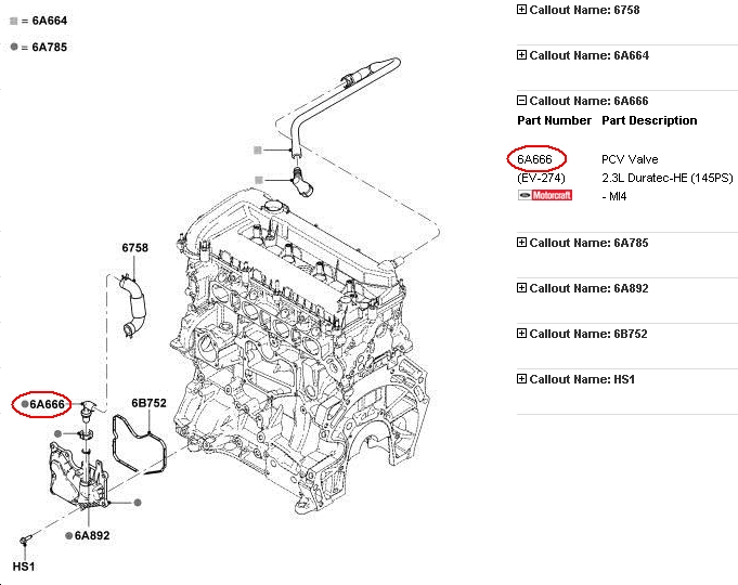 ford escape pcv valve location html