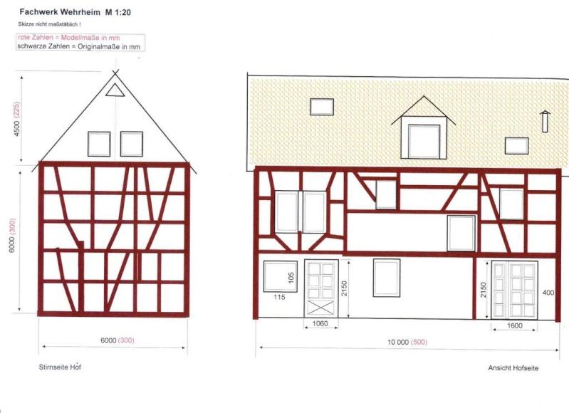 Fachwerkhaus m 1 20 nach original urbs38 for Fachwerkhaus skizze