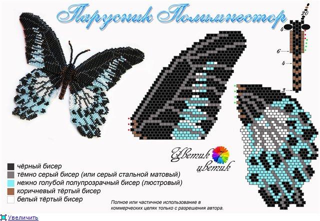 Бабочка Махаон или мозаичное