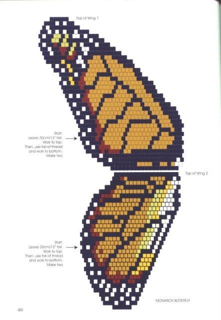 Пособие по бисероплетению для начинающих. начинающих. поделки из бус и бисера. поделки из бисера Как сделать бабочку...