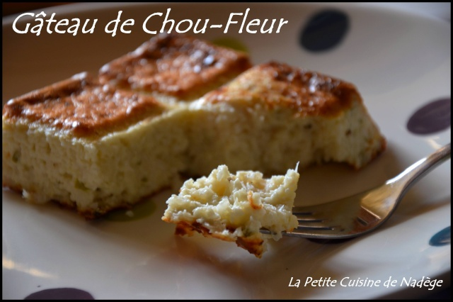 Gateau De Chou Fleur 3 Propoints Weight Watchers La Part La Petite
