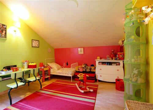 chambre rose fushia et vert anis » Photos de design d\'intérieur et ...
