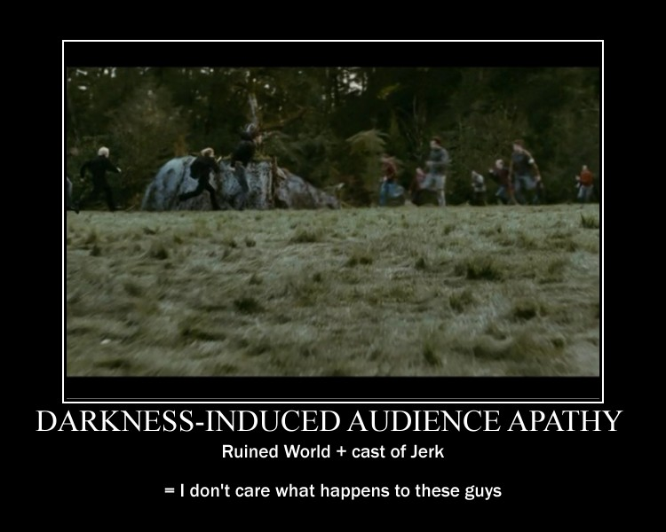 Darkness Induced Audience Apathy Tv Tropes