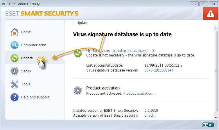 مفاتيح NOD32 ESET Smart Security جديدة صادرة يوم 06 07 2012