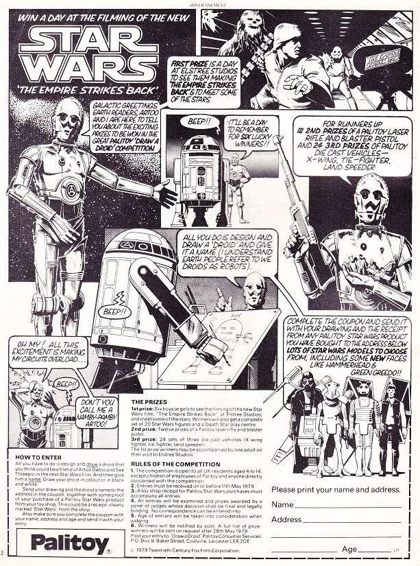 Vicces/érdekes Vintage Star Wars reklámanyagok, katalógusképek