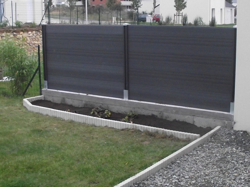Decoration mur beton exterieur for Mur de jardin mitoyen