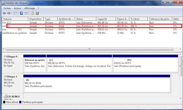 reparer votre disque dur endommage passer de raw en ntfs