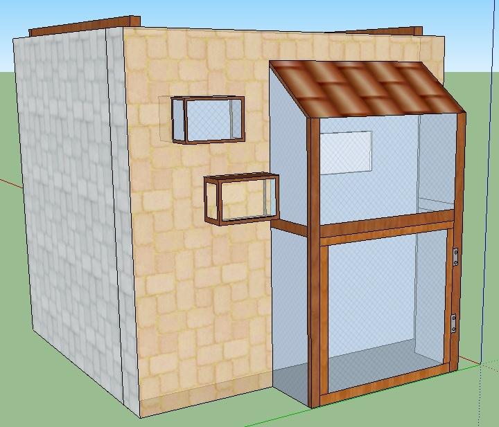 projet de voli re. Black Bedroom Furniture Sets. Home Design Ideas