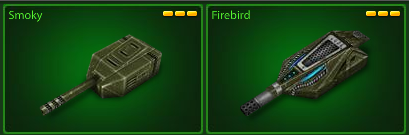 Tanki online weapon specs today is the smoky and firebird guns