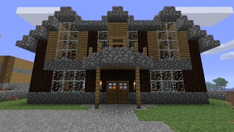 Dalle De Bois Minecraft : Un petit chalet de vacance