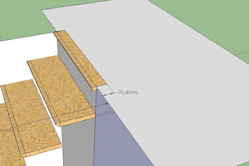 Conception d 39 un escalier avec skechup - Hauteur marche d escalier ...