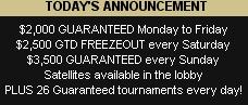 Guaranteed Tourney's @ Minted Poker