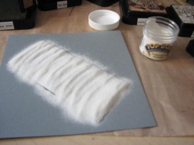 La perle du scrapbook tutoriel effet cuir for Enlever de l huile sur du cuir