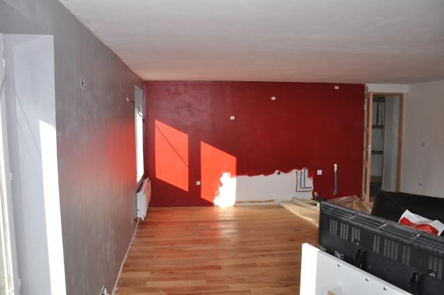 Sy m photos de mon salon en cours besoin de conseils - Cuisine bordeaux et gris ...