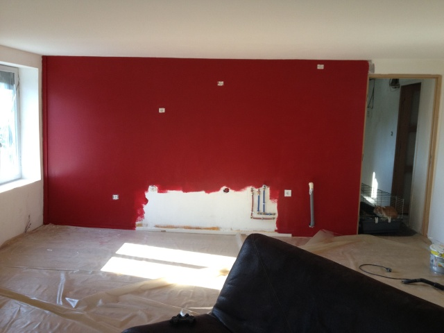 Sy m photos de mon salon en cours besoin de conseils - Salon couleur bordeaux ...
