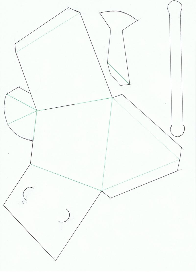 Arrosoir pour p ques en papier - Patron de maison en papier a imprimer ...