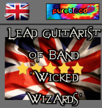British - Pureblood - Lead Guitarist Of 'Wicked Wizards'