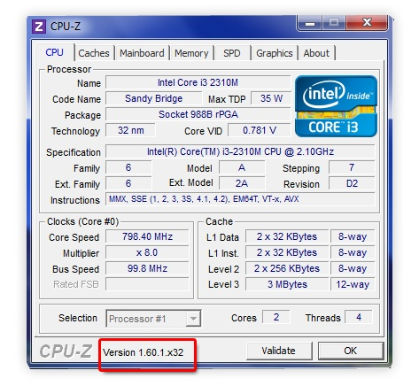 ������ CPU-Z ������� �����