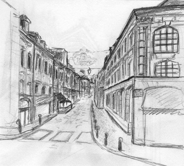 Dessin Facile Perspective : Croquis d une rue de lille
