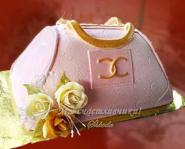 """Торт-сумка  """"Шанель """""""